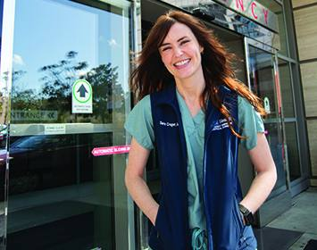 Sara Crager, MD, medical director, early recognition and emergency response
